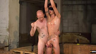 Erotic nude anal for a twink and her master