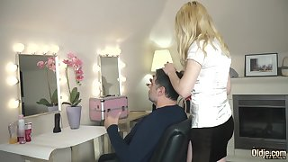 Facial cumshot be worthwhile for slutty teen gets fucked by elderly guy