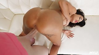 MILF live-in lover gets paid for extra services increased by that laddie loves doggy style