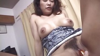 Japanese wife Marie Sugimoto gets her pussy fucked in rector