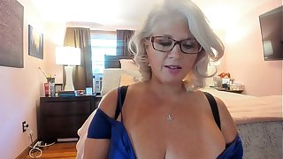 Curvy MILF Rosie: Tiring On Sexy Heels and Dancing w/ Glasses On