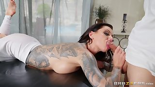 How To Fuck Your Masseur: anal massage for tattooed slut Karma Rx by Pithy Hands