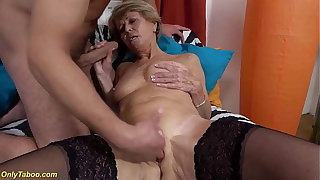 sexy 75 years old mother loves toyboy