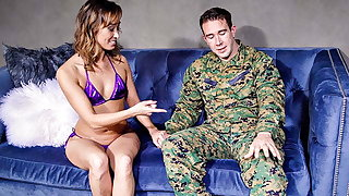 Asian Mom Christy Adore Welcomes Home Stepson In Get under one's Best Equally