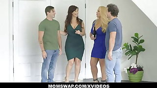 Lustful Curvy Stepmoms Karen Fisher And Syren De Mer Teach StepSons About Sexual connection