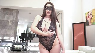 Masked wife wants blarney deep just about the brush ass