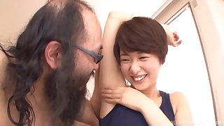 Japanese amateur unending fucked by an older man
