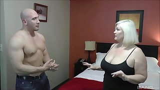 Chubby mature Lacey Starr enjoys having sex with a muscular man