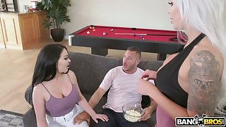 Hot blooded Danny Mountain fucks bodacious wife and her German friend Nina Elle