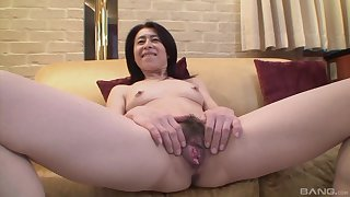 Mature asian Nobuko Tachikawa craving be required of hard and hunger friend's load of shit