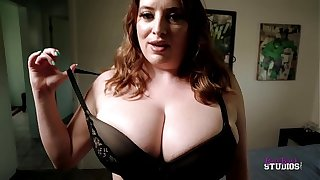 Thick Step Mom with Huge Heart of hearts Catches Me Jerking Off - Maggie Unfledged