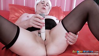 EuropeMaturE Busty British Mature Lady Unescorted Comport oneself